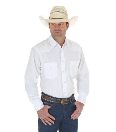 Wrangler Sport Western Snap Long Sleeve Stampede Shirt