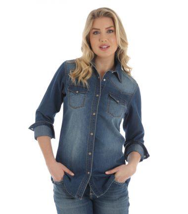 Wrangler Women's Denim Jacket Stampede Top