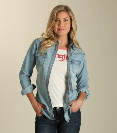 ee510cc880 Wrangler® Premium Long Sleeve Denim Shirt - McCormick Western