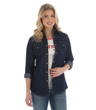 Wrangler Women's Dark Denim Jacket Stampede Top