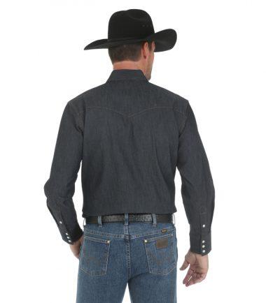 Wrangler Long Sleeve Men's Western Work Shirt