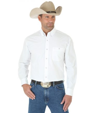 Wrangler Men's Long Sleeve Western George Strait White