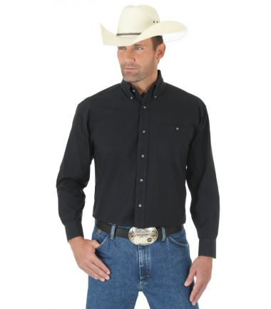 Wrangler Men's Long Sleeve Western George Strait Black
