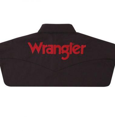 Wrangler Logo Men's Long Sleeve Stampede Shirt Black