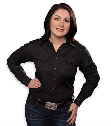 Western Cowboy Women's Long Sleeve Shirt Stampe