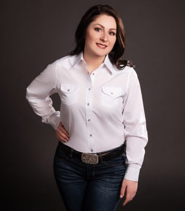 Solid White Cowgirl Shirt by Riley & McCormick