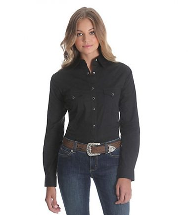 Wrangler Long Sleeve Western Shirt - Black