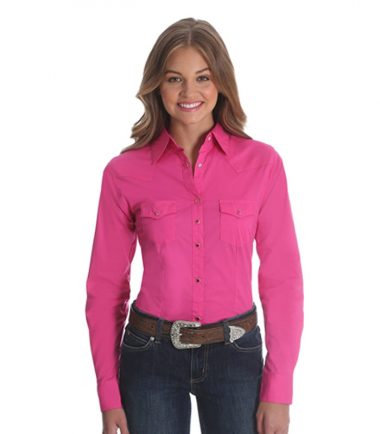 Wrangler Long Sleeve Western Shirt - Pink