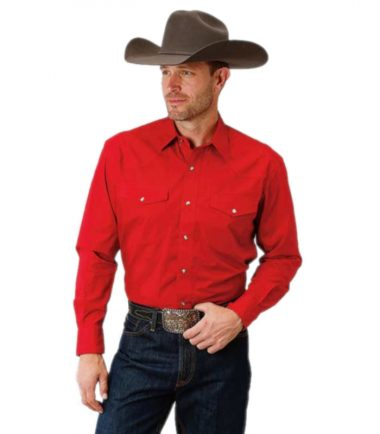 Roper Men's Poplin Cowboy Western Stampede Shirt