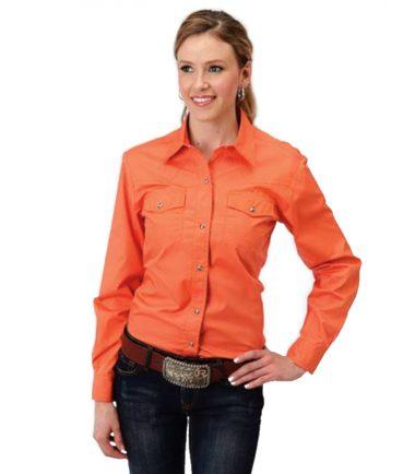 Roper Women's Poplin Cowboy Western Stampede Shirt