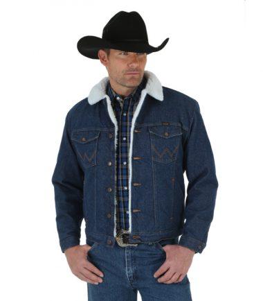 Wrangler Lined Denim Jacket Western Stampede