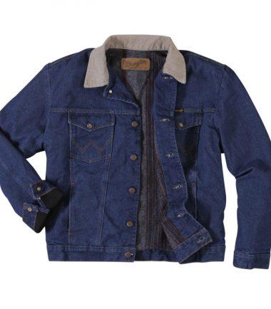 Wrangler Storm Rider Indigo Wash Lined Denim Jacket Western Stampede