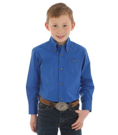 Wrangler Boys Kid's Western Shirt Stampede Shirt