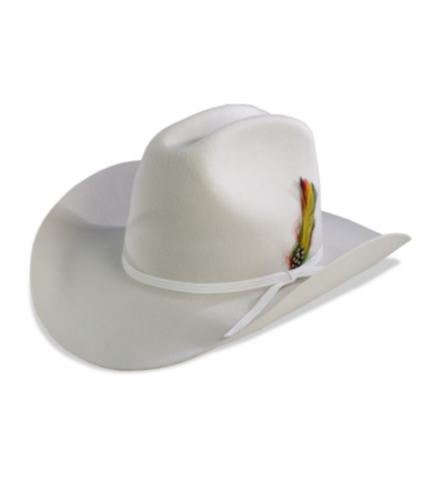 Citation White Felt Stampede Cowboy Hat