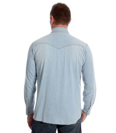 Wrangler Cowboy Denim Short Sleeve Shirt Stampede Western