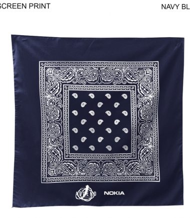 Bandanna Custom Corporate Stampede Navy Blue