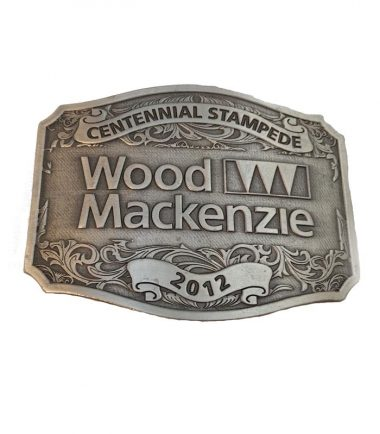 Custom Belt Buckle Engraved Antique Silver Finish Western Stampede