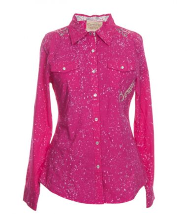 Western Ladies Stampede Shirt Pink Dyed