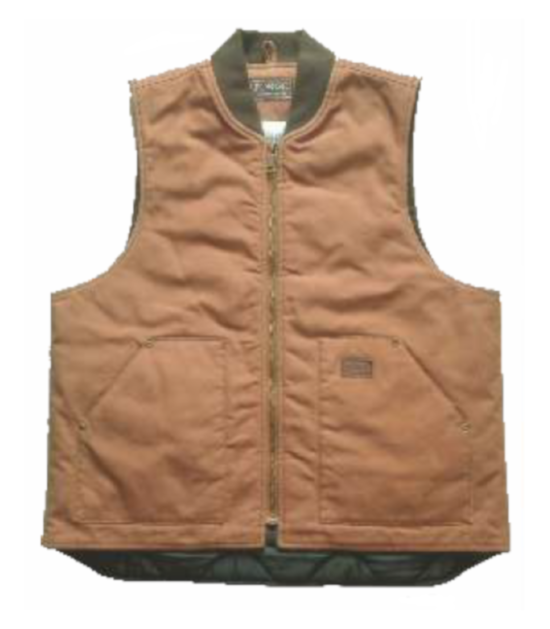 Forge Men's Lined Canvas Vest Quilted Cotton Work Wear Western