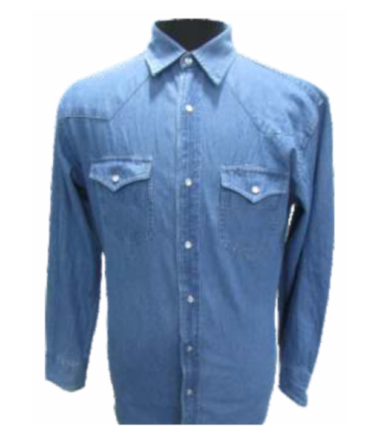 Forge Men's Solid Denim Snap Shirt Work Wear Western