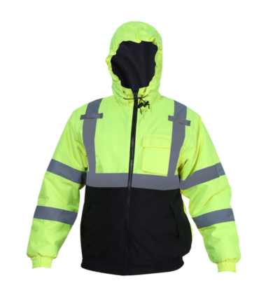 Forge Hi Vis Bomber Jacket Work Wear Western PPE Yellow Reflective Safety