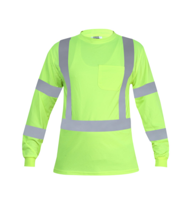Forge Hi Vis Long Sleeve Tee Work Wear Western PPE Yellow Reflective Safety