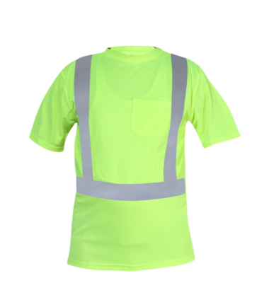 Forge Hi Vis Short Sleeve Tee Shirt Work Wear Western PPE Yellow Reflective Safety