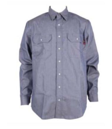 Forge Men's Fire Retardant Chambray Long Sleeve Shirt Work Western Wear