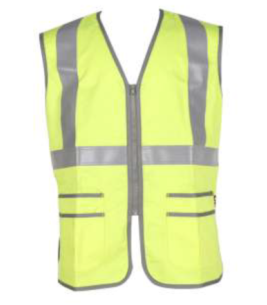 Forge Hi Vis Vest Fire Retardant Pocket Zipper Work Wear Western PPE Yellow Reflective Safety