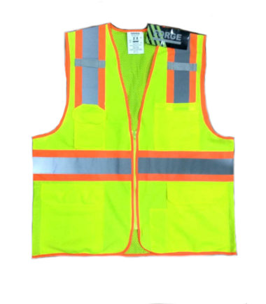 Forge Hi Vis Vest Two Tone Zipper Work Wear Western PPE Yellow Reflective Safety