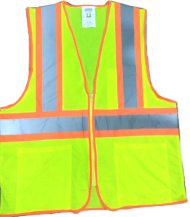 Forge Hi Vis Vest Work Wear Western PPE Yellow Reflective Safety Pocket