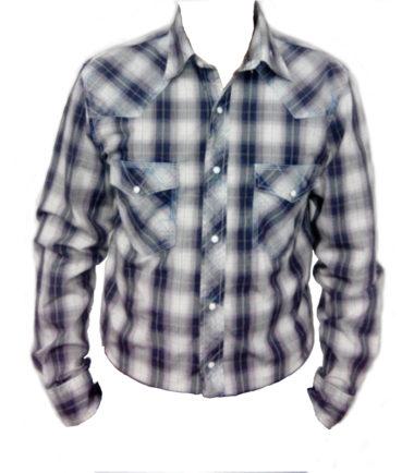 Riley & McCormick Blue Plaid Stampede Western Long Sleeve Shirt Men's Women's Corporate