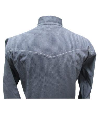 Riley & McCormick Blue Printed Stampede Western Long Sleeve Shirt Men's Women's Corporate