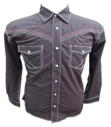 Riley & McCormick Wine Printed Stampede Western Long Sleeve Shirt Men's Women's Corporate