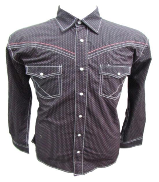 Riley & McCormick Wine Printed Stampede Western Long Sleeve Shirt Men's Women's Corporate