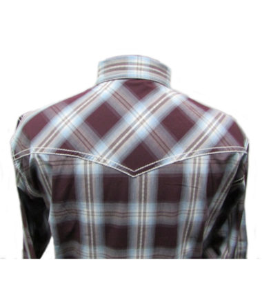 Riley & McCormick Blue Red Plaid Stampede Western Long Sleeve Shirt Men's Women's Corporate