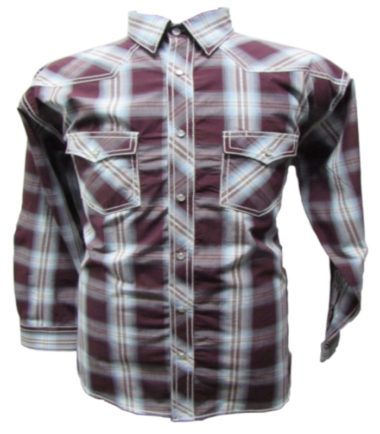 Riley & McCormick Blue Red Plaid Stampede Western Long Sleeve Shirt Men's Women's Corporate