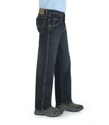 Wrangler Rugged Wear Relaxed Fit Denim Western Jeans Dark Blue