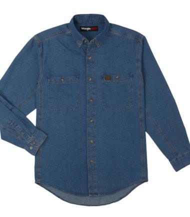 Wrangler Riggs Workwear Denim Work Shirt Antique