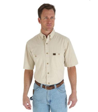Wrangler Riggs Workwear Chambray Work Shirt Tan