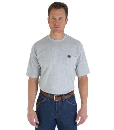 Wrangler Riggs Workwear Short Sleeve Pocket T Shirt Ash Heather