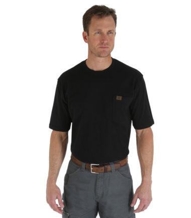 Wrangler Riggs Workwear Short Sleeve Pocket T Shirt Black