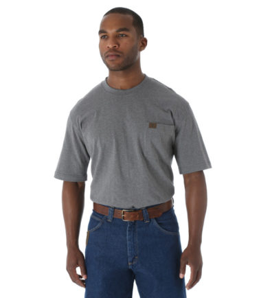 Wrangler Riggs Workwear Short Sleeve Pocket T Shirt Charcoal