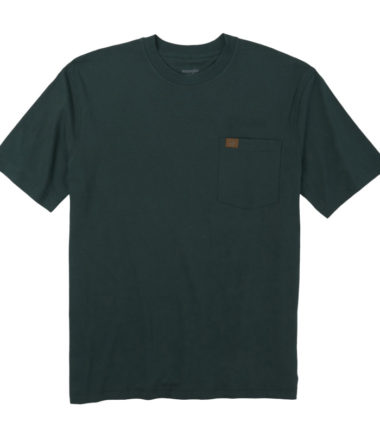 Wrangler Riggs Workwear Short Sleeve Pocket T Shirt Forest Green