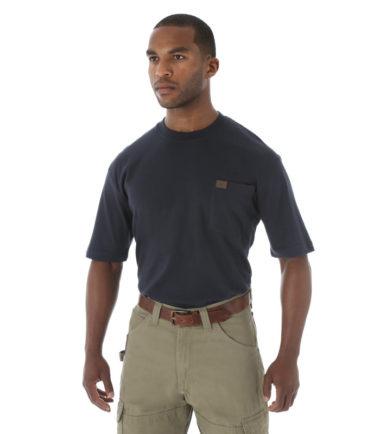 Wrangler Riggs Workwear Short Sleeve Pocket T Shirt Navy