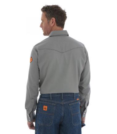 Wrangler FR Long Sleeve Lightweight Work Shirt Charcoal