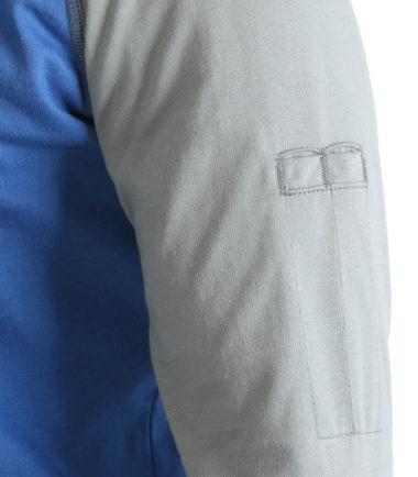 Wrangler FR Knit Baseball Henley Blue