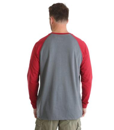 Wrangler FR Knit Baseball Henley Red