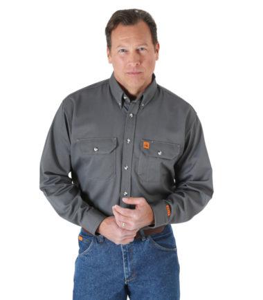 Wrangler Riggs FR Long Sleeve Work Shirt Slate