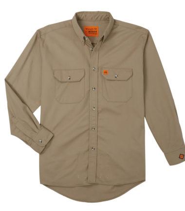 Wrangler Riggs FR Long Sleeve Work Shirt Khaki